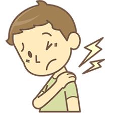 枚方市で肩こり・頭痛・寝違いで悩む人イラスト
